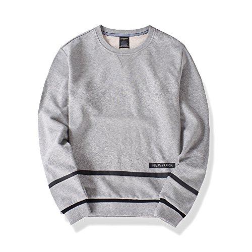 Lisux männer - Casual Mode Pullover Pullover, t - Shirt sinkt Baumwolle Hoodies,Grau,L