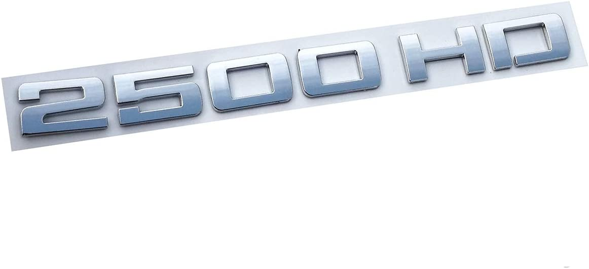 2500HD 2500 HD Nameplates Emblems,3D Decal Badges Replacement for Gm Silverado Sierra