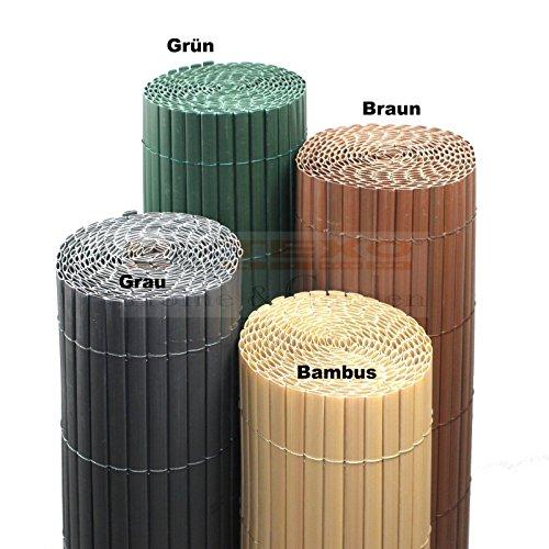 PVC Sichtschutzmatte Farbe & Größe Wählbar Sichtschutzzaun Sichtschutz für Zaun Balkon Windschutz (Höhe 80 cm / Länge 3 m , Grau)