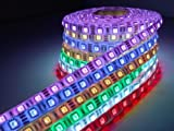 5m 300led Smd5050 Led Strip Waterproof Light, RGB Color with 12v 5a Power Supply Provided(include). Life Span: 50,000 Hours - Ideal for Gardens, Homes, Kitchen, Under Cabinet, Aquariums, Cars, Bar, DIY Party Decoration Lighting - Mood Light with 44-key Re