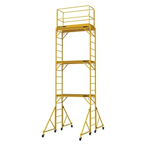 Metaltech Multipurpose 18ft. Maxi Square Triple Baker-Style Scaffold Tower Package - 733-Lb. Capacity, Model Number I-T3CISC