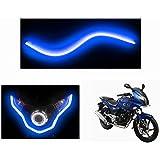 Speedwav Flexible 30Cm Bike Headlight Led Drl Tube Blue-Bajaj Pulsar 220