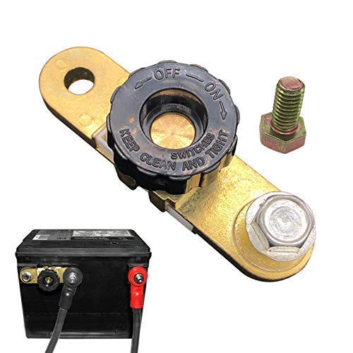 Ampper Side Post Battery Disconnect Switch, Battery Master Switch Isolator for Power Disconnect Cut Off (with Long Bolt)