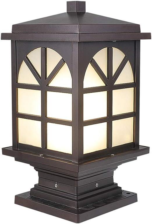 LYXJX Vintage Farola de Exterior Farolas E27 Lámpara para Pilar IP43 Impermeable Pedestal/Post Iluminacion Luz Del Jardín para Casa, Garaje, Patio, Muro, Escalera, Patio: Amazon.es: Iluminación