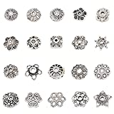 Incredible art 100-Piece Bali Style Jewelry Making Metal Bead Caps Deluxe New Mix, Silver