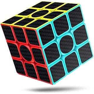 CFMOUR Rubiks Cube, Rubix Cube Speed Cube 3x3x3, Smooth Magic Carbon Fiber Sticker Rubix Speed Cubes, Enhanced Version, 5.7 Black