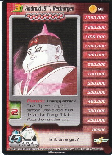 Dragonball Z Cell Saga CCG Uncommon Personality Card- Android 19, Recharged Level 3 #98