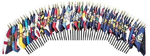 Miniature State Flags - MADE IN THE USA!! 50-STATE WORLD FLAG SET--50 Rayon 4