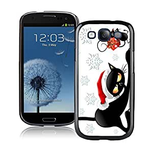 Best Buy Design Christmas Black Cat With Mouse Black TPU Phone Case For Samsung Galaxy S3,Samsung I9300 Cases