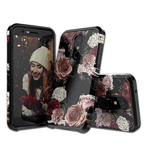 Molota LG K30 Case,LG K10 2018 Case,Dual Layer Anti-Scratch Seriers Hard PC+TPU Hybrid Protective Case for LG K30,LG K10 2018 Flower