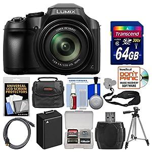 Panasonic Lumix DC-FZ80 4K Wi-Fi Digital Camera with 64GB Card + Case + Battery + Tripod + Sling Strap + Kit