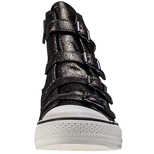 Ash Zapatos Virgin Bronze Zapatillas de Cuero Mujer Mordore
