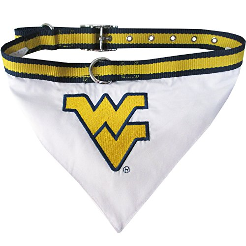 (Pets First Collegiate Pet Accessories, Collar Bandana, West Virginia Mountaineers, Small)