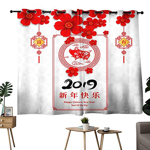 Windshield Curtain Happy Chinese New Year Year of The Pig Paper Cut Style Chinese Characters Mean Happy New Year Wealthy Zodiac Sign for Greetings Card Flyers Invitation Posters brochure Banners cale