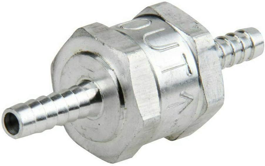 ZET 6mm 1//4 Fuel Non Return One Way Check Valve Aluminium for Oil Petrol Diesel Water 4 Pack