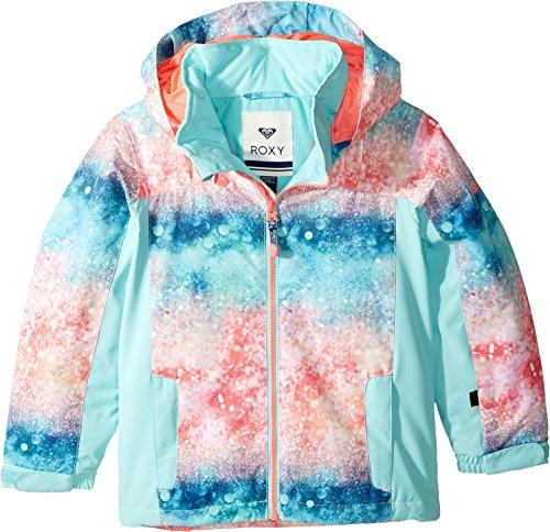 Roxy Little Girls' Mini Jetty Snow Jacket, Neon Grapefruit_Solargradient, 4/5 by Roxy