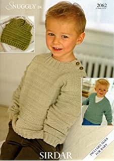 b77ca42e9 King Cole Boys Double Knitting DK Pattern for Long Sleeved Striped ...