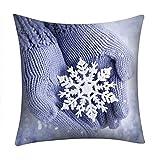 NUWFOR Print Pillow Case Polyester Sofa Car Cushion Cover Home Decor(B)