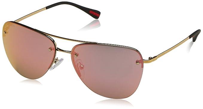 2d8d8c01df Prada anteojos de sol ps53rs zvn5l2 – 57 – pálido oro espejo de, gris (