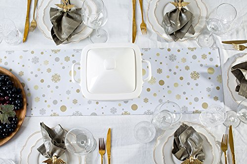 Like Paper Banquet Table Covers (Hotrun 2-in-1 Decorative Table Runner and Protective Trivet Your Elegant Table Runner and Heat-Resistant Trivet All in One (Spark))