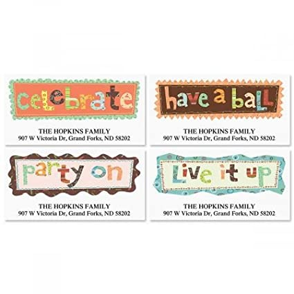 personalized live it up new years eve address labels set of 144 self adhesive