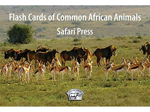 Safari Press Flash Cards of Common African Animals