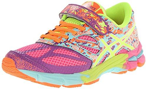 ASICS GEL Noosa Tri 10 PS Running Shoe (Little Kid/Little Kid/Little Kid),Blue/Lighting/Flash Yellow,2 M US Little Kid