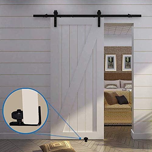 Juego de herrajes para puertas correderas kuaetily, adecuado para todas las puertas correderas de madera.: Amazon.es: Bricolaje y herramientas