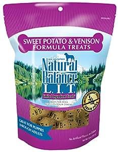 Natural Balance L.I.T. Limited Ingredient Dog Treats, Grain Free, Sweet Potato & Venison Formula, 14-Ounce
