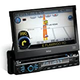 BOSS AUDIO BV9980NV Single-DIN 7 inch Motorized Touchscreen DVD Player Receiver GPS Navigation, Bluetooth, Detachable Front Panel, Wireless Remote