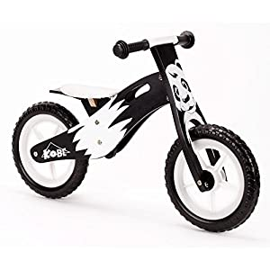 Kobe Wooden Balance Bike Panda Black And White