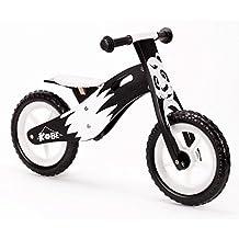 "Kobe Wooden Balance Bike ""Panda"" Black and White"