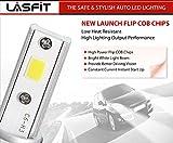 LASFIT H1 LED High Beam/Fog Light Bulbs kits -COB Flip Chips/Adjustable Beam Pattern-60W 7600LM 6000K