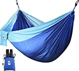 Utopia Home's Supreme Nylon Hammock - Supports up to Two People or 400 LBS - Porch, Backyard, Indoor and Camping - Durable and Ultralight Material - Includes Adjustable Straps