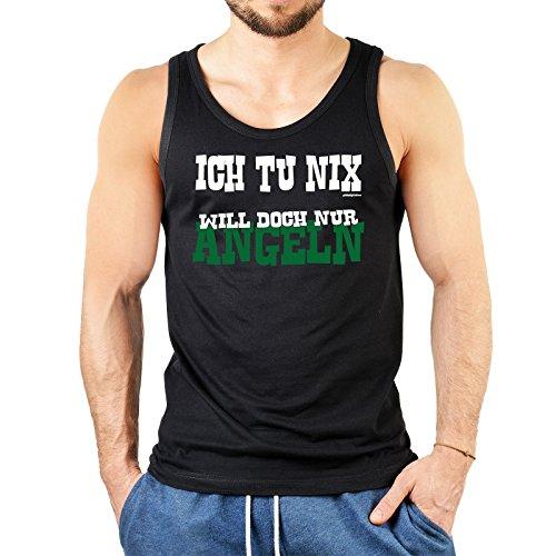 super Figur mit coolem Herren Tank-Top Farbe: schwarz : + ICH TU NIX WILL DOCH NUR,,,,,,,,,,,,,,,,+