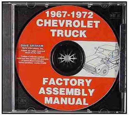 (GMC & CHEVROLET TRUCKS & PICKUPS 1967 1968 1969 1970 1971 1972 FACTORY ASSEMBLY MANUAL CD - INCLUDES ALL C and K Series, Pickups, Panel, Suburban, Blazer, GMC Suburban, C10,)