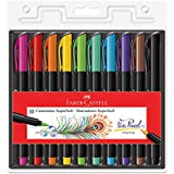 Caneta Ponta Pincel, Faber-Castell, Supersoft Brush, 15.0710SOFT, 10 Cores