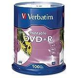 VER95145 - Verbatim DVD+R 4.7GB 16X White Inkjet Printable - 100pk Spindle