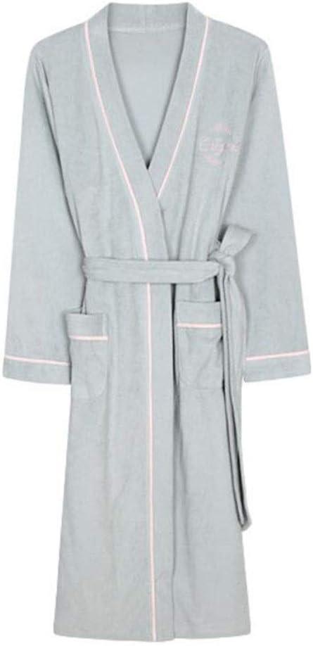 Bathrobe Albornoz de baño para Mujer Nan Liang, ultrasuave, con Cuello de Chal, Color Gris, 100% algodón, Pijama, Ultra Suave, Lujoso, cálido y Acogedor, XX-Large: Amazon.es: Hogar