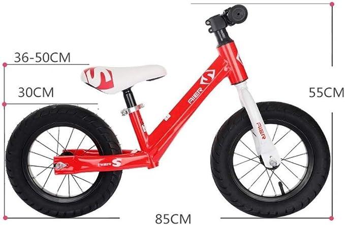 KXBYMX Bicicletas de Equilibrio para niños Diseño de Bicicleta equilibrada for niños: sin Pedales for niños de 2 a 6 años Bicicleta de Equilibrio Infantil (Color : Yellow): Amazon.es: Hogar