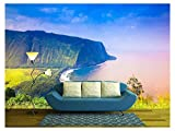 wall26 - Waipio Valley Lookout on Big Island, Hawaii - Removable Wall Mural | Self-adhesive Large Wallpaper - 66x96 inches