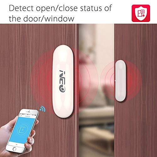Golgor WiFi Door and Window Sensor,Smart Security Alarm Doorbell Magnet Contact Sensor with App for Home Office Business Burglar Alert, No Hub Required - Home Security System