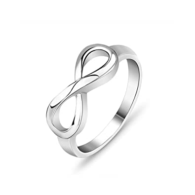 B A Infinity Eternity Promise Ring For Her Friendship Gift Endless