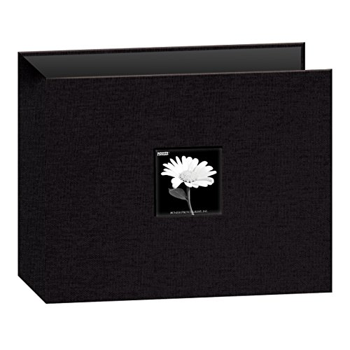 Pioneer T12CBF-BK  12-Inch by 12-Inch Fabric 3-Ring Binder Album with Window, Black