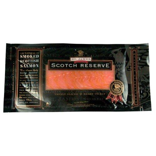St. James Scottish Reserve Sliced Skinless Smoked Salmon, 1 pound ()
