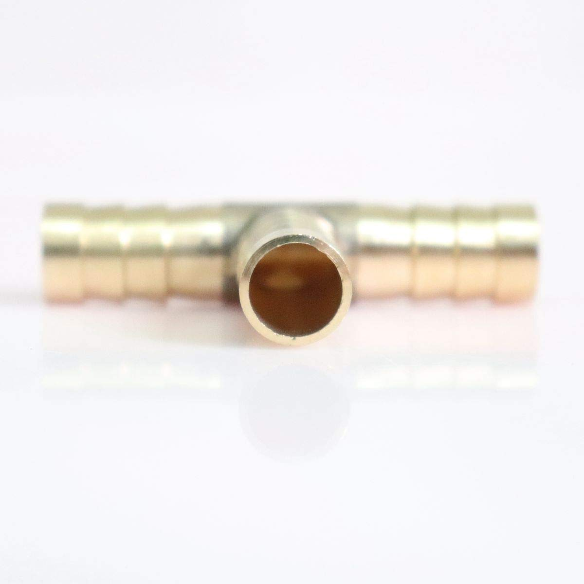 Tee-Shaped 3 Way Brass Hose Barb Fitting Pipe Tubing Splicer Fuel Water Gas Air ,3//8 x 3//8 x 3//8 Barb