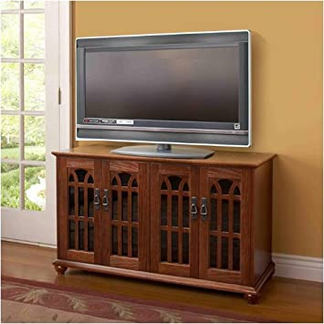 Inlaid Mission Style Flat Panel TV Cabinet (TVGD Series)