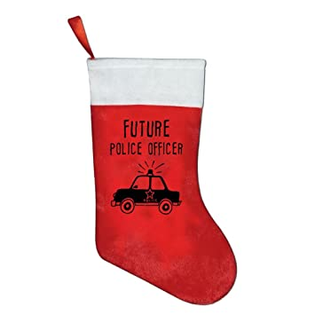 mean com future police officer hanging red socks ornaments decorations santa stockings - Outdoor Police Christmas Decorations