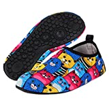 Yidomto Water Shoes, Quick-Dry Barefoot Socks for Mens Womens Kids on Beach Pool Swim and Yoga(Colorfull Cat/M/40/41)