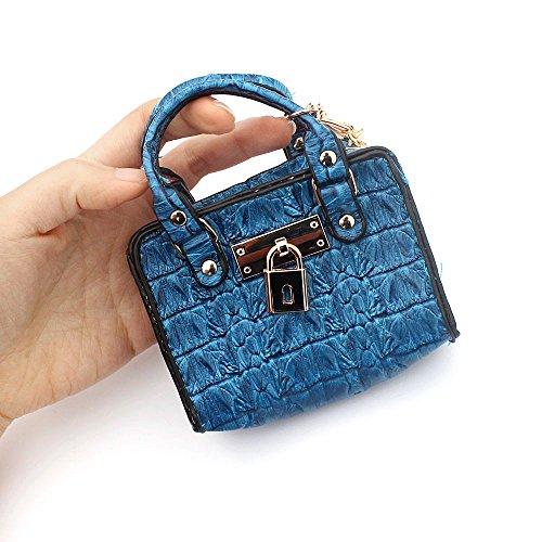 0d72f58fed07 Ya Jin Women Girls Mini Cute Leather Coin Purse Coin Bag Key Pouch Storage  Bag(Crocodile Pattern)
